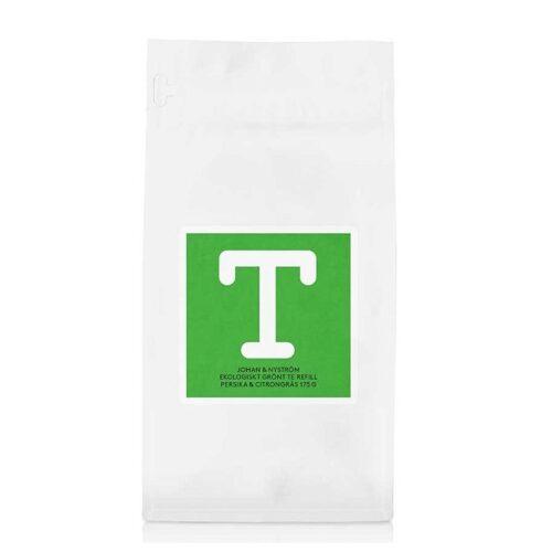 mahekasvatatud roheline tee virsiku ja sidrunheinaga 175g