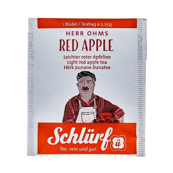 Schlürf Herr Ohms punase õuna tee 20tk