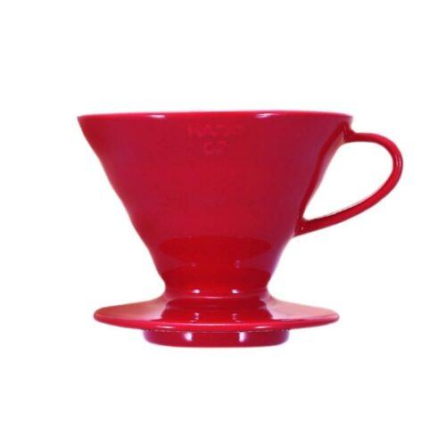 HARIO V60 filtrikoonus punane keraamiline 02